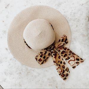 Cheetah Leopard Print Beach Hat